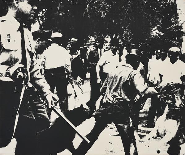 Andy Warhol-Birmingham Race Riot, From Ten Works By Ten Painters-1964