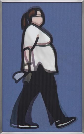 Julian Opie-Nurse, From Walking In London 1-2014