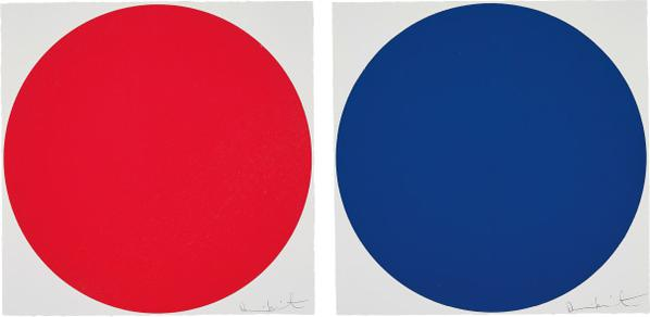 Damien Hirst-Amniotic Fluid; And Equilin, From 40 Woodcut Spots-2011
