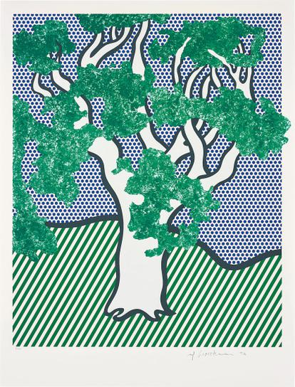 Roy Lichtenstein-Rain Forest, From Columbus: In Search Of A New Tomorrow-1992