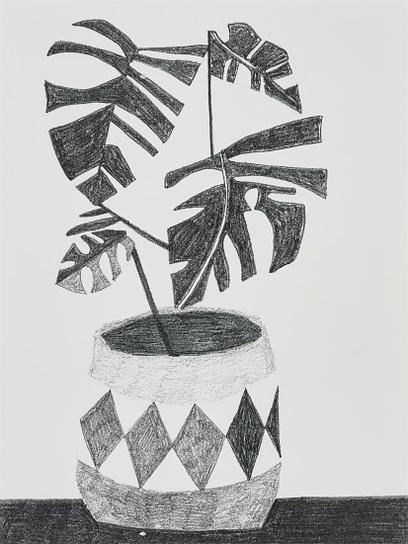Jonas Wood-Untitled (Xerox)-2009