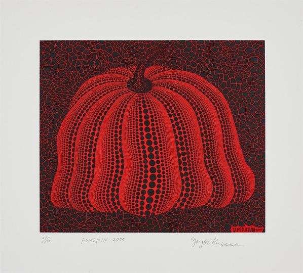 Yayoi Kusama-Pumpkin 2000 (Red)-2000