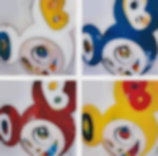 Takashi Murakami-And Then X 6 (White: The Superflat Method, Blue And Yellow Ears); And Then X 6 (Blue: The Polke Method); And Then X 6 (Red Dots: The Superflat Method); And And Then, And Then And Then And Then And Then / Lemon Pepper-2013
