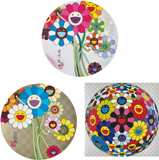 Takashi Murakami-Flower Ball (Kindergarten Days); Flowers For Algernon; And Even The Digital Realm Has Flowers To Offer!-2010