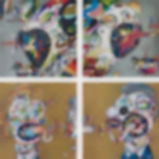 Takashi Murakami-Homage To Francis Bacon (Study Of Isabel Rawsthorne); Homage To Francis Bacon (Study Of George Dyer); Homage To Francis Bacon (Study For Head Of Isabel Rawsthorne And George Dyer); And Homage To Francis Bacon (Study For Head Of Isabel Rawsthorne And George Dyer)-2017