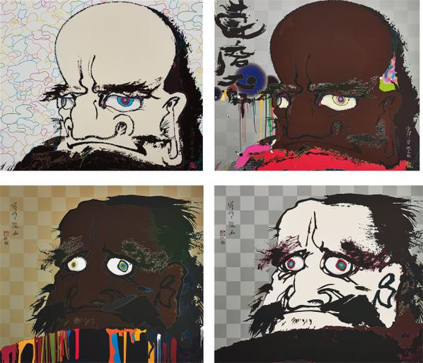 Takashi Murakami-I Open Wide My Eyes But See No Scenery. I Fix My Gaze Upon My Heart; That I May Time Transcend, That A Universe My Heart May Unfold; Initiate The Speed Of Cerebral Synapse At Free Will; Andin The Hearts Eye, A Universe-2008