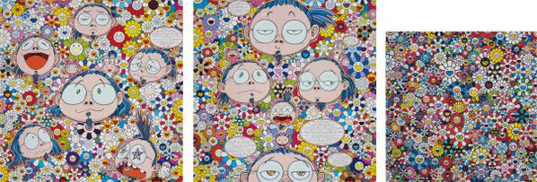 Takashi Murakami-The Artists Agony And Ecstasy; Self-Portrait Of The Manifold Worries Of A Manifoldly Distressed Artist; And The Future Will Be Full Of Smile! For Sure!-2012