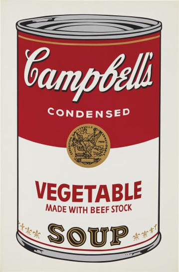 Andy Warhol-Vegetable, From Campbells Soup I-1968