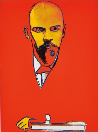 Andy Warhol-Red Lenin-1987