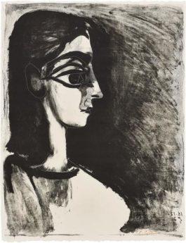 Pablo Picasso-Buste De Profil (Bust In Profile)-1957