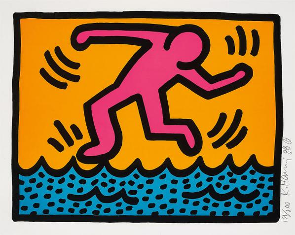 Keith Haring-Pop Shop II: One Plate-1988