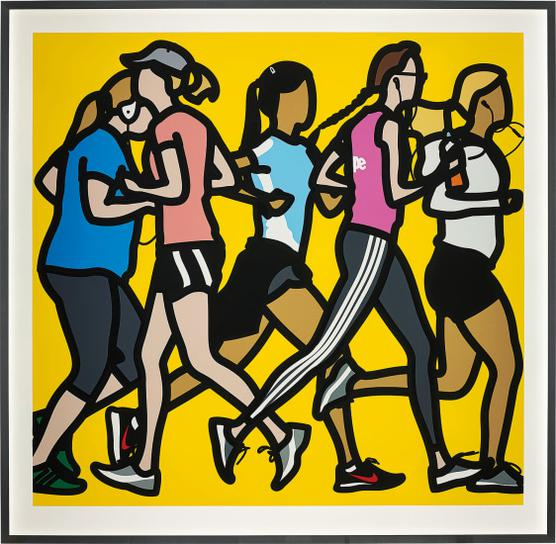 Julian Opie-Running Women, From Runners-2016