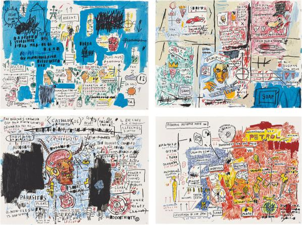 Jean-Michel Basquiat-After Jean-Michel Basquiat - Ascent; Olympic; Leeches; And Liberty-2017