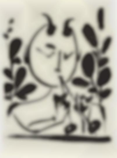 Pablo Picasso-Faune Aux Branchages (Faun With Branches)-1948