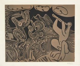 Pablo Picasso-Bacchanale: Flutiste Et Danseurs Aux Cymbales (Bacchanal: Flutist And Dancers With Cymbals)-1959