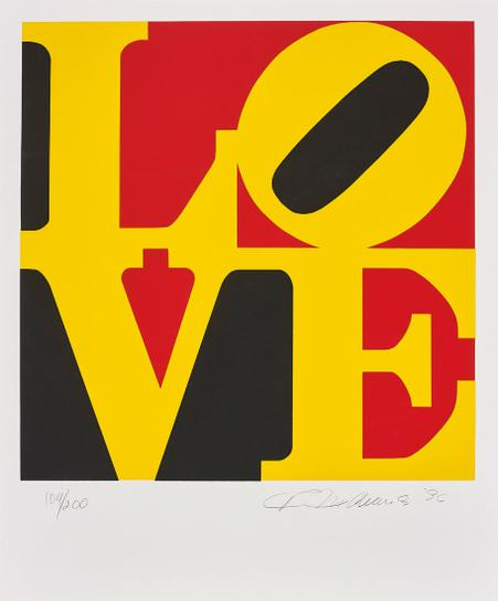 Robert Indiana-Book Of Love: One Plate-1996