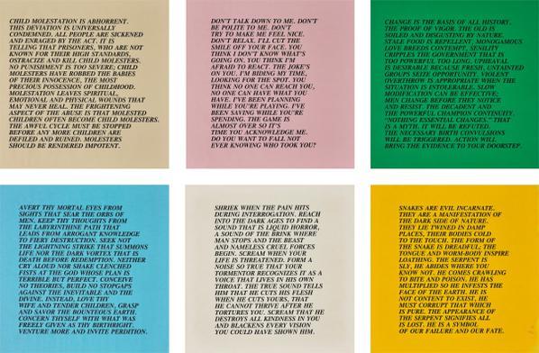 Jenny Holzer-Inflammatory Essays: 25 Works-1982
