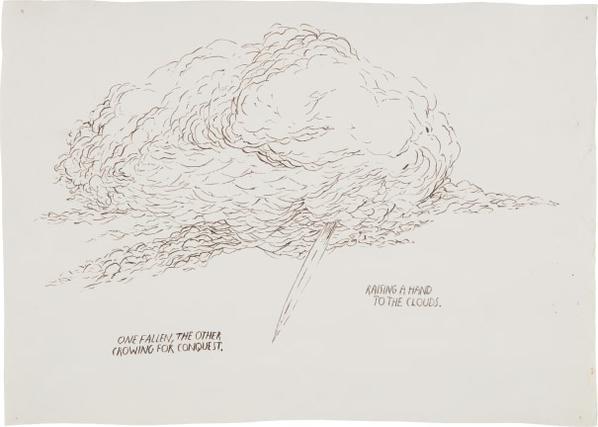 Raymond Pettibon-Untitled (Raising A Hand To The Clouds...)-1993