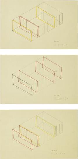 Fred Sandback-Three Works: (I) No. 70; (II) No. 83; (III) No. 128-1969