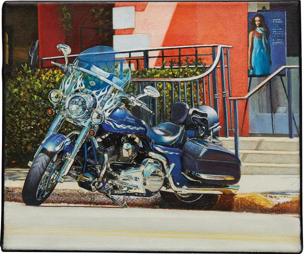 Tom Blackwell-Parked Harley - Third St. Naples-2010