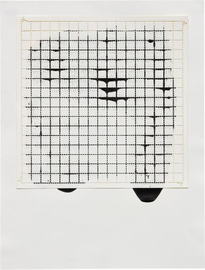 Analia Saban-Ink On Paper, Offset: Grid #2-2010