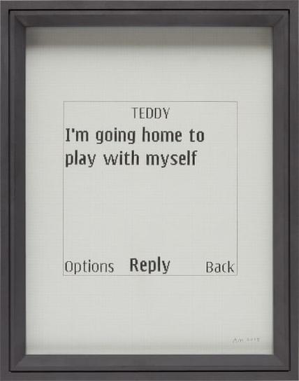 Adam McEwen-Untitled Text Msg (Teddy)-2008