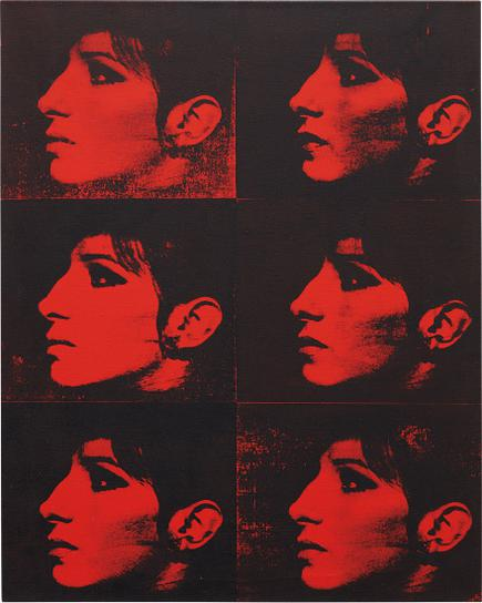 Deborah Kass-Six Red Barbras From The Series Jewish Jackie-1992