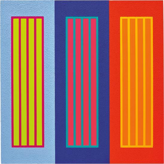 Peter Halley-Three Prisons-2009