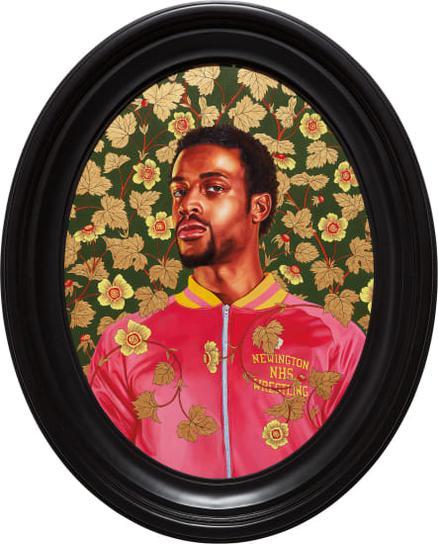 Kehinde Wiley-Portrait Of Garrett Gray-2017