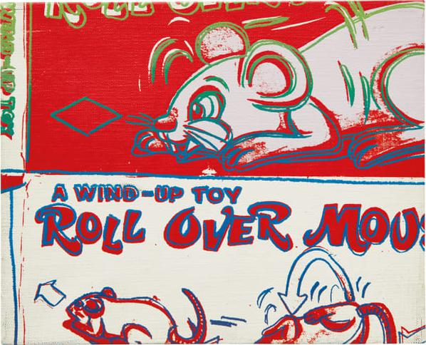 Andy Warhol-Rollover Mouse From The Series Toy Paintings-1983