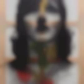 Adriana Lara-Symbol Face #5 (Colored)-2012