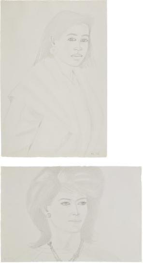 Alex Katz-Two Works: (I) Ann; (II) Croile-1983