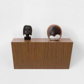 Haim Steinbach-Untitled (Jamaican Head, Mobius Strip)-2014