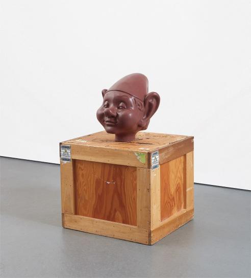 Paul McCarthy-Dwarf Head (Chocolate)-2000