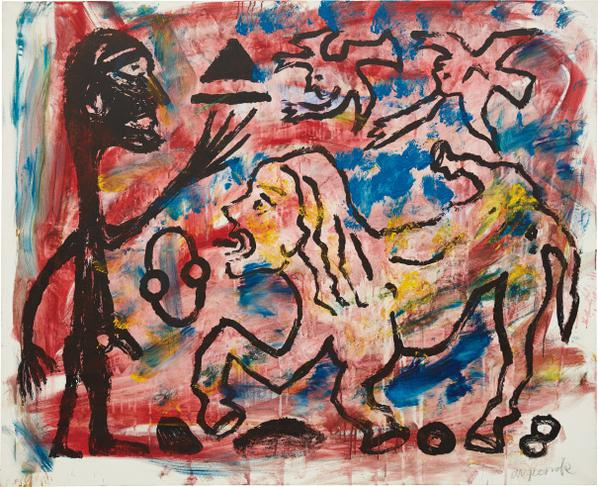 A.R. Penck-Willst Du Oder Willst Du Nicht (Do You Want To Or Not)-1990