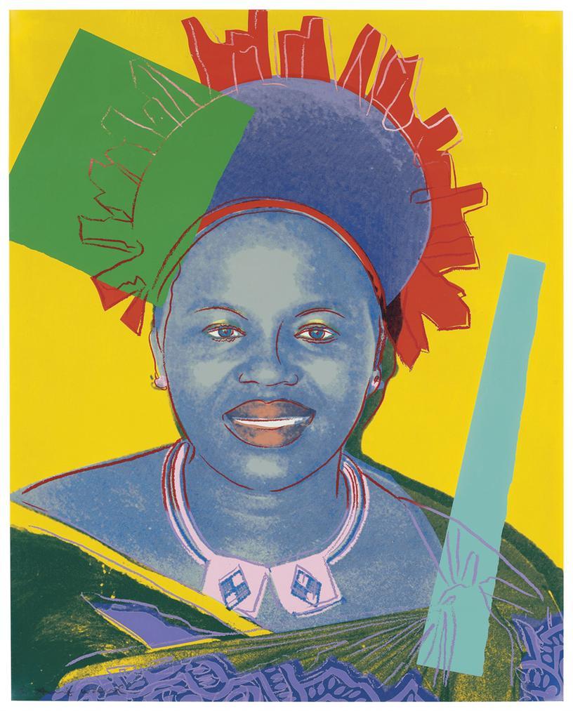 Andy Warhol-Queen Ntombi Twala Of Swaziland, From Reigning Queens-1985
