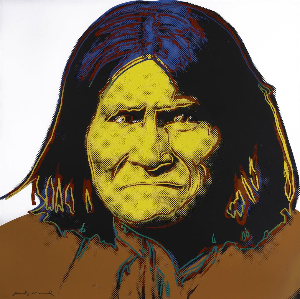 Andy Warhol-Geronimo, From Cowboys And Indians-1986