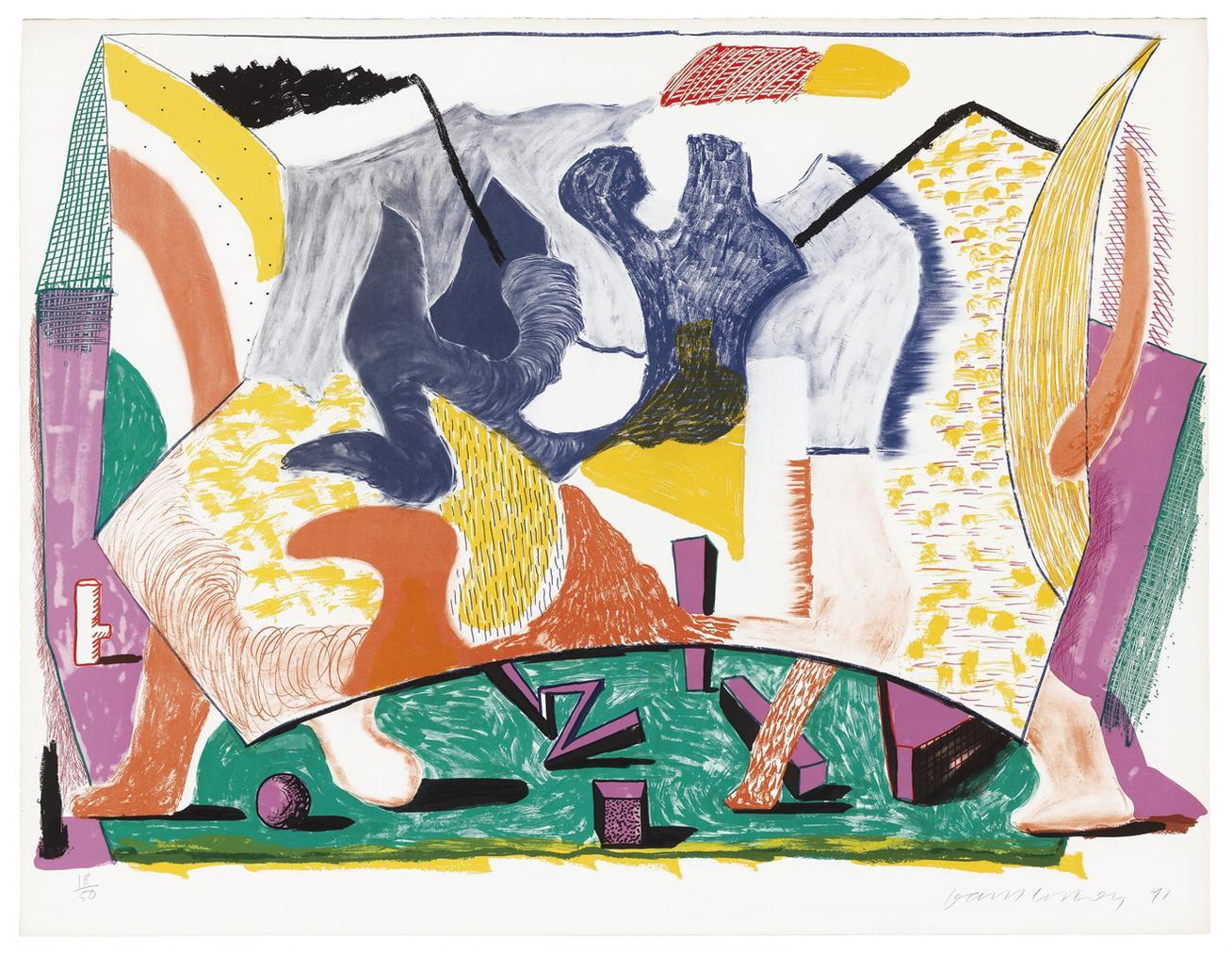 David Hockney-Twelve Fifteen-1991