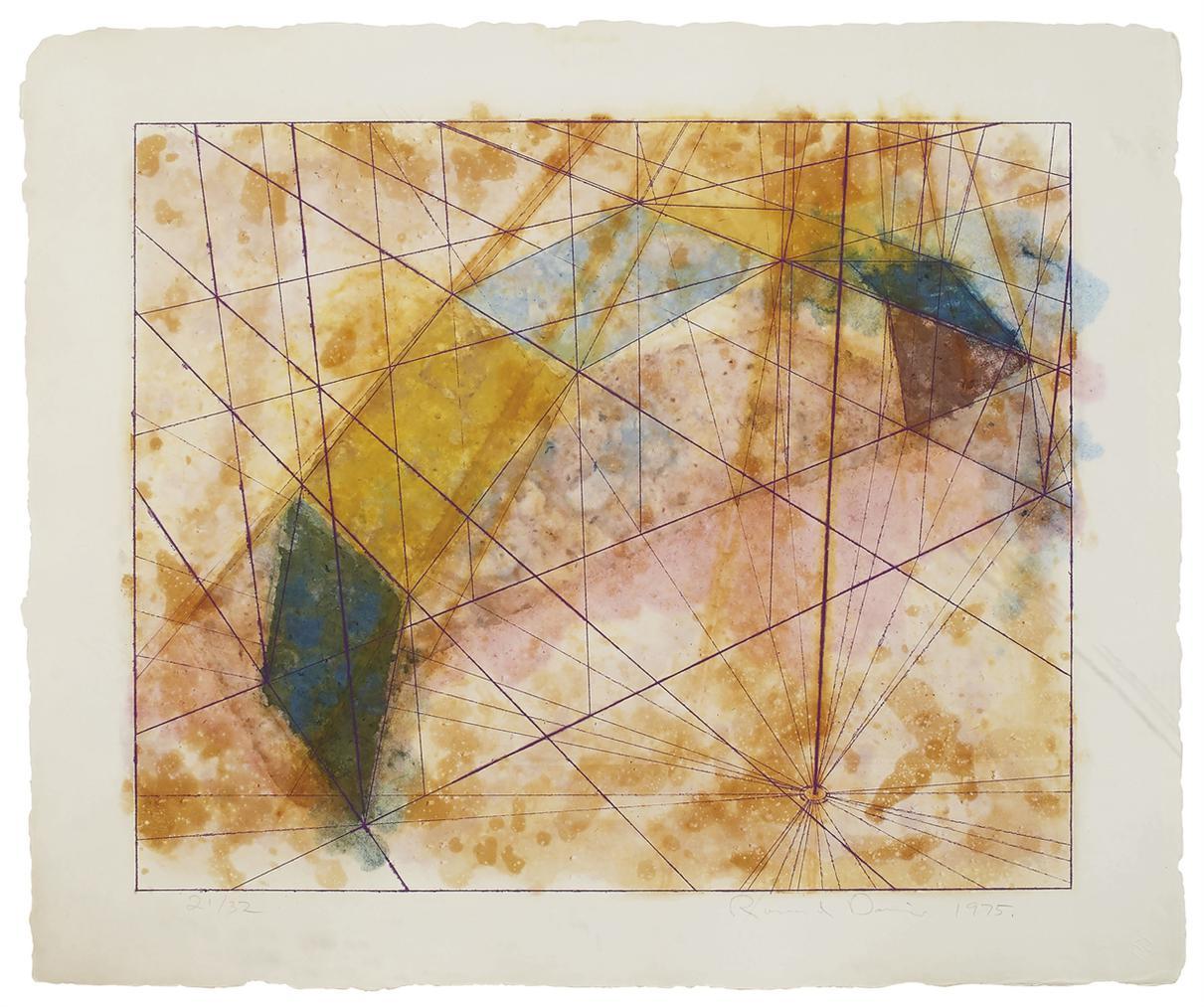 Ron Davis-Intaglio Print Series: Three Plates-1975