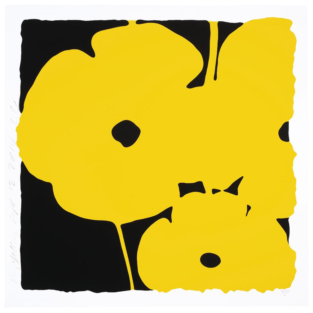 Donald Sultan-Big Yellow, Sept 12, 2014, From Big Poppies-2014