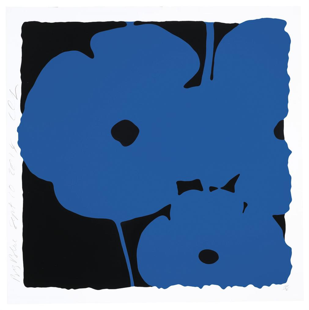 Donald Sultan-Big Blue, Sept 10, 2014, From Big Poppies-2014