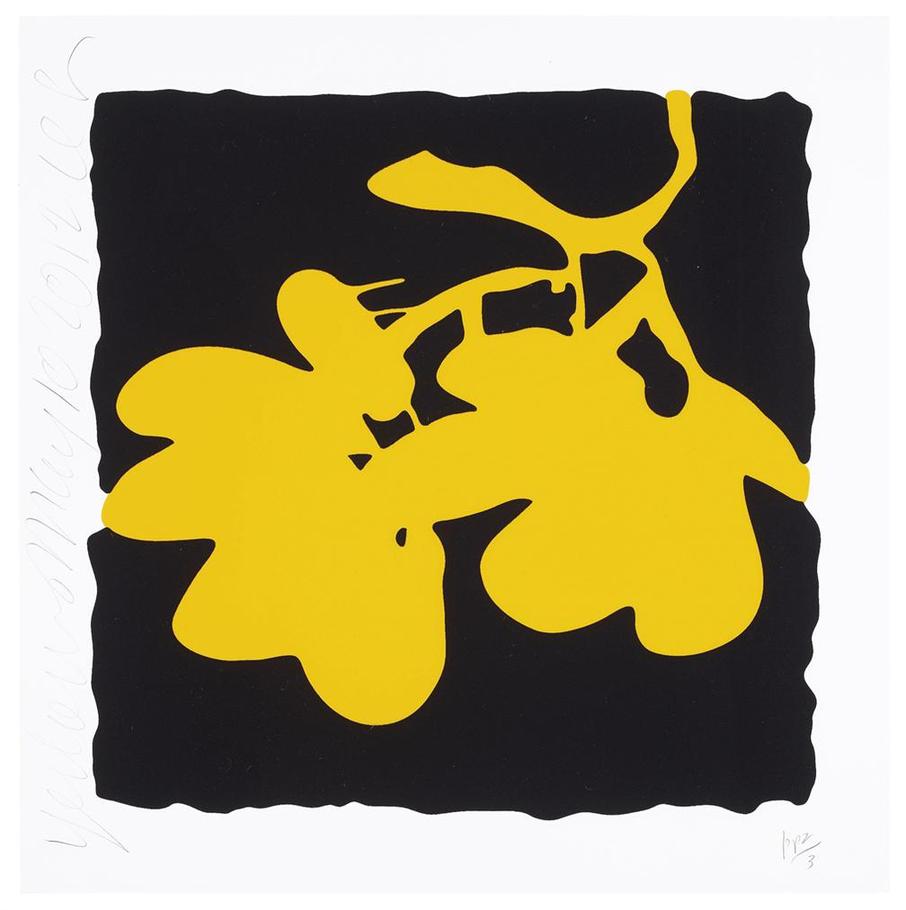 Donald Sultan-Yellow, May 10, 2012, From Lantern Flowers-2012