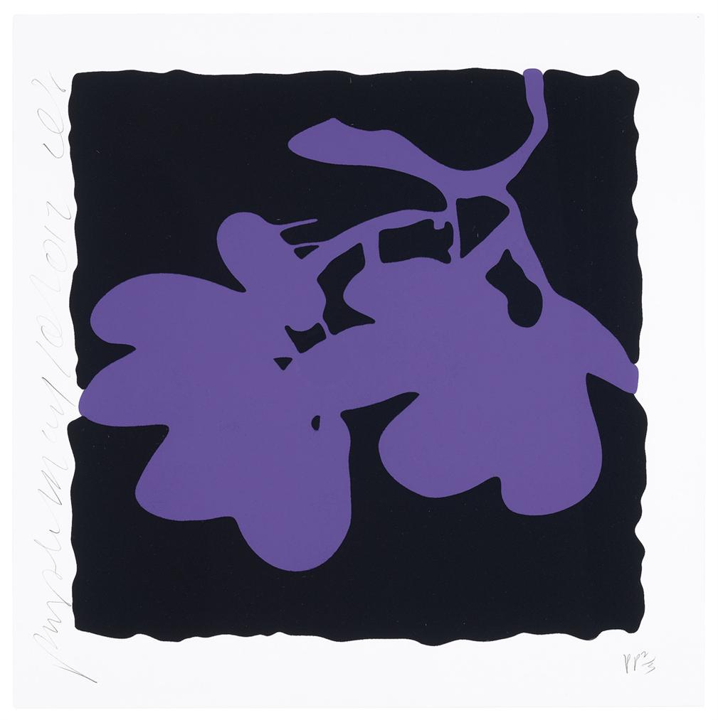 Donald Sultan-Purple, May 10, 2012, From Lantern Flowers-2012