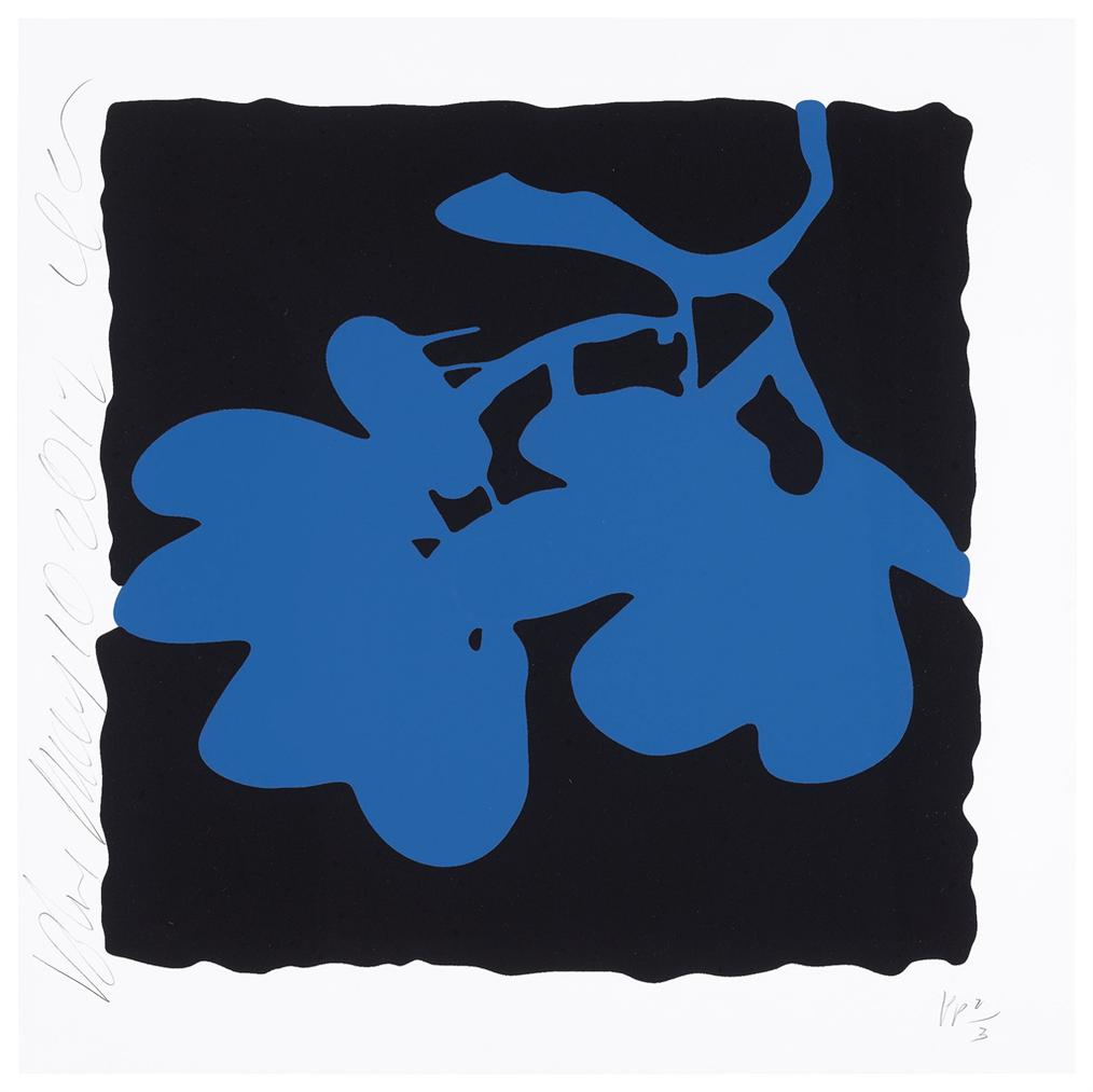 Donald Sultan-Blue, May 10, 2012, From Lantern Flowers-2012