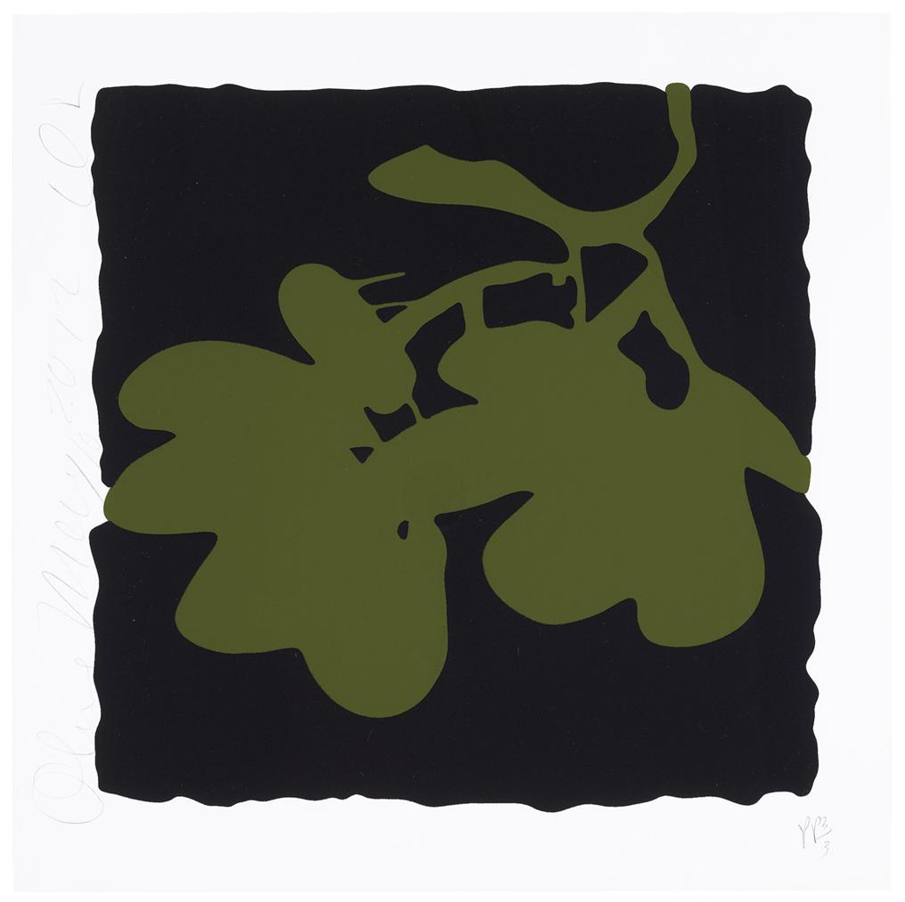 Donald Sultan-Olive, May 10, 2012, From Lantern Flowers-2012