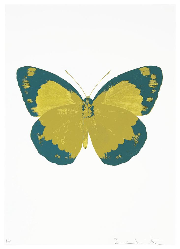 Damien Hirst-The Souls Ii - Paradise Copper/Turquoise/Blind Impression-2010