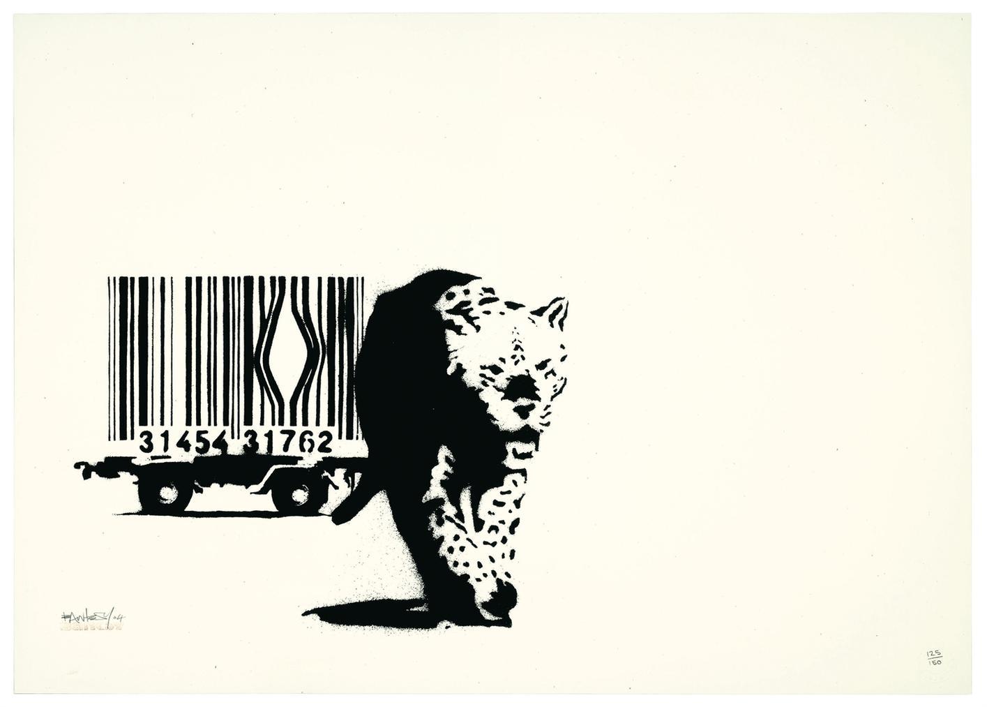 Banksy-Barcode Leopard-2004