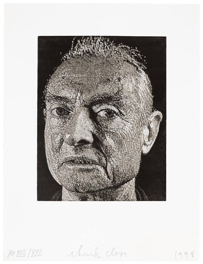 Chuck Close-Roy/Reduction Linocut-1998