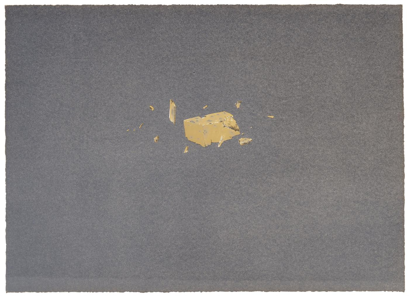 Ed Ruscha-Exploding Cheese, From Various Cheeses-1976