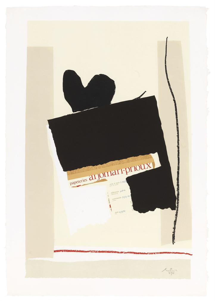 Robert Motherwell-America - La France Variations IV-1984